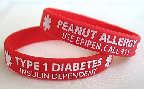 Stylish Medical Alert Rubber Bracelets