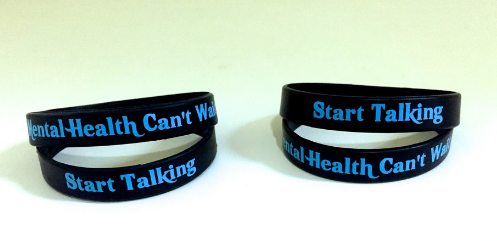 World Mental Health Day Awareness Wristbands For Fund
