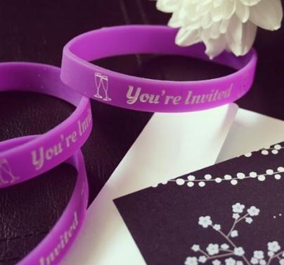 Wedding Or Anniversary Wristbands Design Custom Rubber