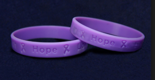 aaa47abde3a Purple Silicone Pancreatic Cancer Awareness Bracelets To Speak About ...